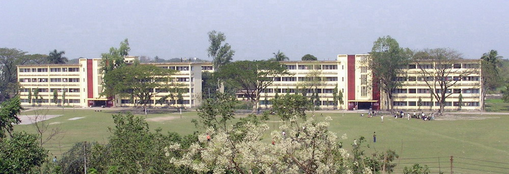 Boys hostels seen from hospital building